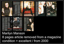 Marilyn Manson Metal Music Clippings, Cuttings & Articles