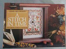 LEISURE ARTS 1993 A STITCH IN TIME CROSS STITCH CALENDAR Samplers EUC