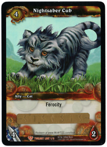 WOW Warcraft Loot Code Nachtsäblerjunges - Nightsaber Cub Haustier PET NEW CARD!