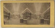 Palais de l'Industrie Exposition Paris 1855 Photo Stereo Vintage Albumine