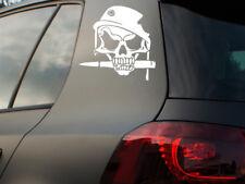 Calavera auto pegatinas casco de acero calavera sticker Skull moto chopper quad