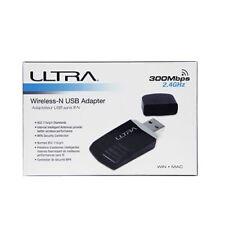 ULTRA Wireless N USB Adapter 300Mbps 2.4GHz U12-43870 Windows Mac