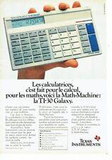 Publicité Advertising 057  1984  Texas Instruments  calculatrice TI-30 Galaxy