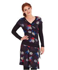 V Neck Knee Length Geometric Dresses for Women