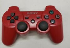 Genuine Sony PS3 DualShock 3 Sixaxis Red Controller Authentic OEM CECHZC2U