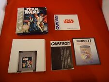 Star Wars Players Choice (Nintendo Game Boy, 1996) COMPLETE w/ Box manual game