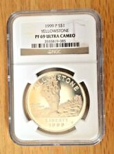 1999 P Silver S$1 Yellowstone National Park NGC Pf69 Ultra Cameo Commemorative