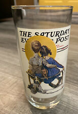 1987 Norman Rockwell Arby's Glass The Spooners #5 of 6 Saturday Evening Post