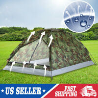 2-3 Person Outdoor Camping Waterproof 4 Season Family Tent Camouflage Hiking