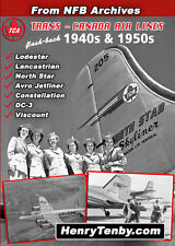 Trans Canada Air Lines 1940s 1950s NFB DC-4M2 Vickers Viscount DC-3 Connie DVD