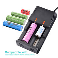 Universal Dual Slot USB Lithium Battery Charger 3A 2A 18650 16340 18500 RC1051