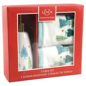 Lenox Balsam Lane Holiday Box Set (Lotion Pump & Fingertip Towels) 11709792