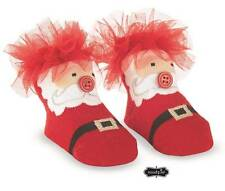 Mud Pie Holiday Tulle Puff Santa Socks  0-12 Months - DISCONTINUED