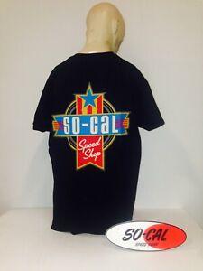 So-Cal Speedshop t-shirt black Americana size L rear print hot rod ford