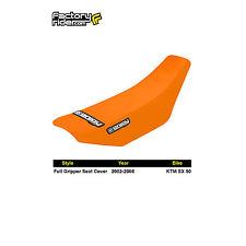 2002-2008 KTM SX 50 FULL GRIPPER SEAT COVER All Orange by Enjoy MFG