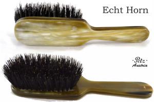Petz 8-reihig Hornbürste Straight Horndeckel Light Wild Boar Bristles Hair Brush