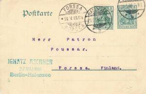 452853) DR GSK 5 Pf. Germania Halensee 1908 mit ZF nach Finnland
