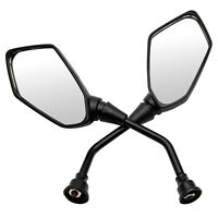 Motorcycle Bike Rear View Side Mirror Chopper Scooter Rearview Mirrors 10mm Bolt