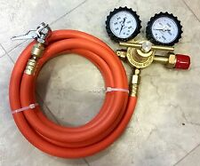 [10-ft hose] Nitrogen Regulator Kit DIY N2 tire inflation with Built-In Swivel