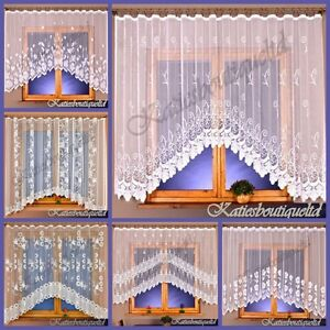 JARDINIERE NET CURTAINS LACE CURTAINS PANEL READY TO HANG
