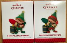 2013 Hallmark (2 Ornaments) North Pole Tree Trimmers & Repaint (1st in Series)