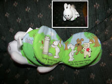 "Rabbit Shaped Cloth Book CARTWHEEL BOOKS SCHOLASTICS  PLUSH Shakes 8"""