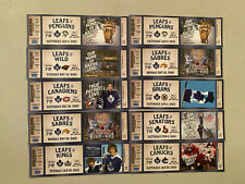 Set # 4 - 10 Toronto Maple Leafs Ticket Stubs 2009/10 Season