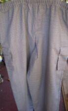 Chef 5Xl Unisex Casual Chef Cargo Style Pant Elastic waist w/drawstring Fame
