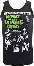 MENS FITTED VEST NIGHT OF THE LIVING DEAD GEORGE ROMERO ZOMBIE HORROR CULT S-5XL