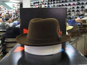 DOBBS AVENUE CHOCOLATE (SUEDE FINISH) FUR FELT FEDORA DRESS HAT
