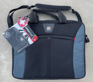 New SwissGear by Wenger Sherpa Slimcase Computer Sleeve Case Bag Black/Gray NWT