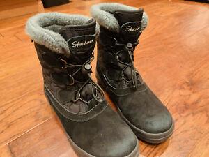 Sketchers Snow / Winter Boots, Black, Women's Size 7, Waterproof & Insulated
