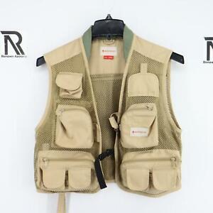 Mens Redington Clark Fork Mesh Fishing Vest Size Small Medium UPF 30+ 11 Pockets