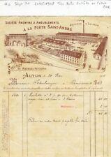 Dépt 71 - Autun A la Porte Saint André - Très Belle Entête d'une Fabrique - 1908