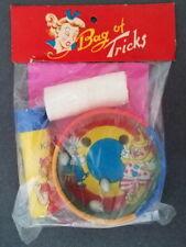 Vintage Bag of Tricks, Japan, 1950s, Clown Egg game, Surprise Kaleidoscope, Bloo