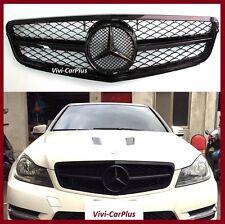 12-14 M-Benz W204 4Dr C350 C300 C250 C200 as C63 Look Front Grille Shiny Black