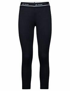 Vaude Damen Merino 3/4 Unterhose, Wo Base Tights in schwarz Gr: 36