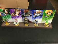 5 Zelda Link Smash Bros Amiibos With Custom Display Stand