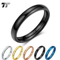 Glossy TT 2mm Slim S.Steel Band Pinky Ring Size 2-11 5 Colours (R345) 2019 NEW