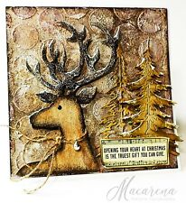 Sizzix Bigz Dashing Deer die #661606 Retail $19.99 Retired, by Tim Holtz!!