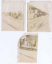 FOLKESTONE Fish Market - 3x Antique Albumen Photographs 1904