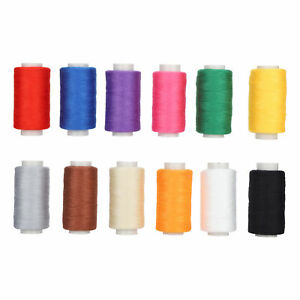 12x Colorful Sewing Thread Set Polyester Embroidery Tools DIY Knitting Supplies
