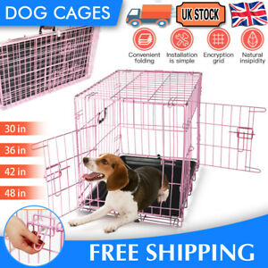 New Dog Cage Puppy Pet Crate Carrier - Small Medium Large M L XL XXL Metal Cage