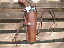 "Gun Holster - Right Handed - 6"" Barrel - 22 Caliber - Brown - Smooth - Leather"