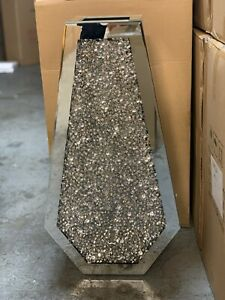 Sparkle Palace Diamond Crushed Crystal Sparkly Silver Mirrored Floor Vase 70CM