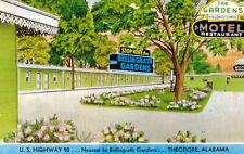 Theodore,Alabama,The Gardens Motel,U.S.Highway 90,Roadside,Chrome,c.1950s