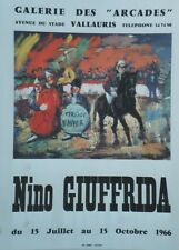 """CIRQUE D'HIVER par Nino GIUFFRIDA 1966"" Affiche originale entoilée 52x68cm"