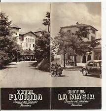 DEPLIANT GUIDA TURISTICA D' EPOCA HOTEL LA MASIA E HOTE FLORIDA BARCELONA SPAIN
