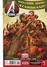 AVENGERS WORLD #4 - RAGS MORALES COVER - JONATHAN HICKMAN STORY - 2014