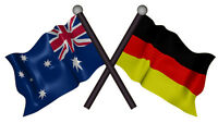 AUSTRALIA GERMANY FLAGS VINYL DECAL  170MM BY 100 MM apr.
